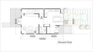architect plan sketchup small home design plan 6x10m sam architect
