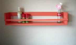 Shabby Chic Spice Rack Long Spice Rack Kitchen Shelf Organizer In Coral Long Over U2026 Flickr