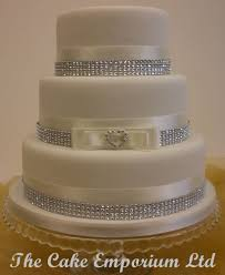 wedding cake love heart rhinestone buckle u2013 satin diamante ribbon