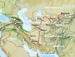 Caucasus Mountains On World Map by Bishkek To Tbilisi 42 Days Kyrgyzstan To Caucasus