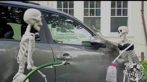 deady teddy spirit halloween skeleton car wash spirit halloween youtube