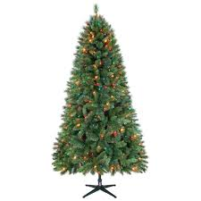 jaclyn smith 7 5ft houston mixed pine christmas tree with multi