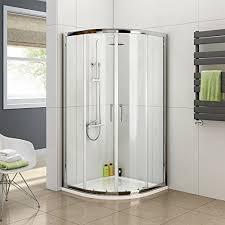 Shower Sliding Door Aica 800 X 800 Mm Quadrant Shower Sliding Doors Glass Chrome