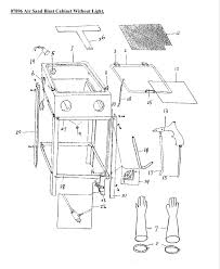Sandblast Cabinet Parts 07896 Air Sand Blast Cabinet Diagram