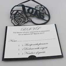 personalized cards wedding 50 personalized laser cut heart with rsvp cards wishing well