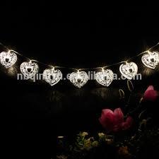 heart shaped christmas lights heart shaped string lights 2 modes 20 led solar string lighting