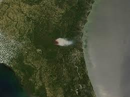 Okefenokee Swamp Map Honey Prairie Fire Georgia Natural Hazards