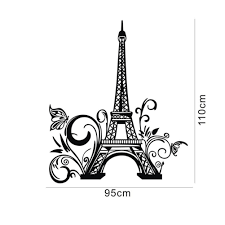 Home Decor Sayings by Tall Eiffel Tower Wall Decal Huge Paris City Sticker Decor Wall