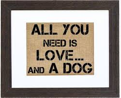 Custom Burlap Art Print Love - home and hearth custom framed prints on burlap