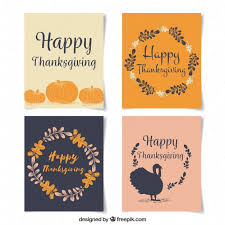 four simple thanksgiving cards vector free