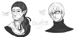 sketch of a vampire and a nerd by sleepyimagination on deviantart