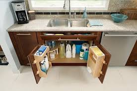 Easy Design Under Sink Storage For Contemporary Kitchen Small Size - Kitchen sink small size