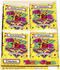 where to buy chiclets gum chiclets tiny size gum 0 5 ounce bags pack of 20