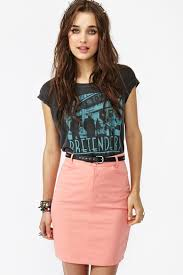 pencil skirt and band tee style pinterest pencil skirts