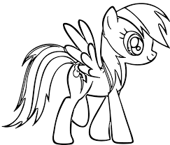 coloring page rainbow dash