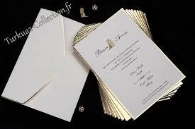 faire part mariage et blanc magnifique faire part mariage luxe blanc et doré