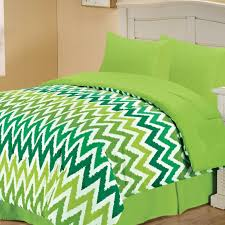 green chevron bedding set my random brain pinterest
