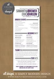 Flat Wedding Programs Printable Wedding Program Design Pdf The Skylar Collection By