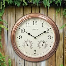 outdoor clocks outdoor garden clocks atomic clocks acurite