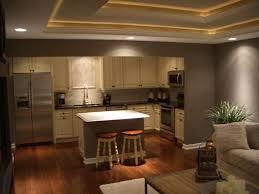 kitchen living room open floor plan round brushed nickel cabinet