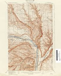 Chelan Washington Map by