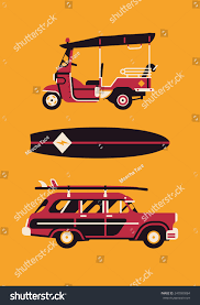 beach jeep clipart vector modern flat design items on stock vector 247865884