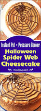 pressure cooker halloween spider web cheesecake this old gal