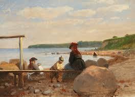file anton dorph børn og deres mødre på lundeborg strand jpg