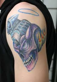 v8 blown by adam chiodo tattoonow