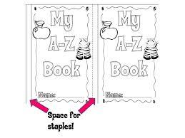 printable blank mini book template printable alphabet book a z book staples printable pages