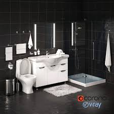 Designs Of Bathrooms 3d Model Set Of Bathroom Equipment And Accessories For Bathrooms