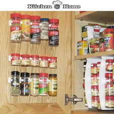 kitchen cabinet door organizers plastic spice gripper wall rack storage holders flavoring racks
