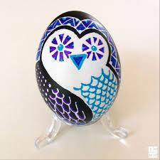 ukrainian easter egg ukrainian pysanky technique modern design owl by katya