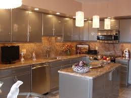 great drum shade kitchen lighting over grey small kitchen island