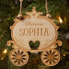 any princess will own personalized ornament on the