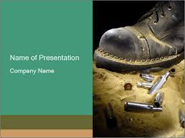 military boots powerpoint template u0026 backgrounds id 0000016862