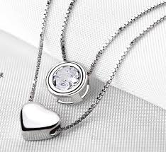 personalized necklaces for women heart charm silver necklace for women personalized necklace