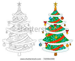 linear christmas tree download free vector art stock graphics