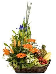 fruit flowers baskets great florist sydney florist choice fruit and flower basket