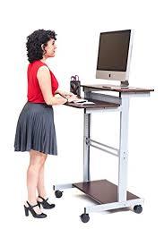 standing desks mobile ergonomic stand up desk computer workstation