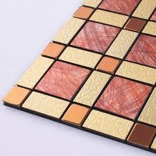Wholesale Metal Tiles Backsplash Gold Bump Arts Aluminum Panel - Metal tiles backsplash