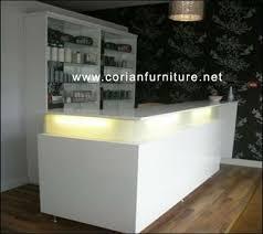 Translucent Corian Ct 155 Designed Built Corian Salon Front Desk Shop For Sale In