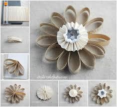 ideas diy book page flower ornament
