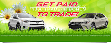 trading in a brand new car get paid to trade in may with 1000 trade in bonus from rochester