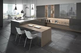 Ultra Modern Kitchen by Ultra Modern Home Kitchen With Simple Breakfast Bar And Gray Slate