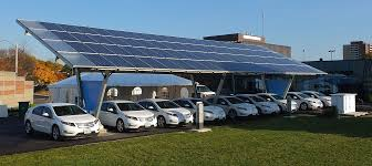 electric cars charging how solar energy helps fleets get the most out of electric vehicles