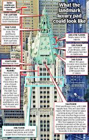 Woolworth Mansion Floor Plan by Penthouse On Top Of The Woolworth Building Going For 110m New