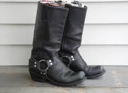 comfortable motorcycle riding boots vintage women s biker boots black leather rocker boots boho hippie