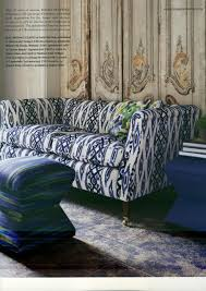 Patterned Sofa Bed Abby Manchesky Interiors A Patterned Sofa Compel Or Repel