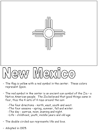united states symbols coloring pages new mexico state flag